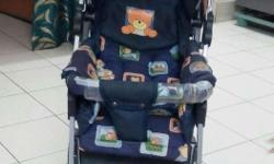 It is a baby's carrier.which is used for roaming on d