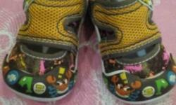 Baby's Yellow And Multicolored Shoes