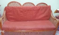 3 piece bamboo sofa set with cushions and covers 5