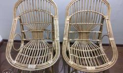 bamboo cane chair and mooda/moora pair in good