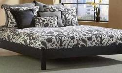 Basic & Simple Design Double Beds Furniture Just