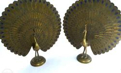 Antique pair of peacock in excellent condition made in
