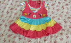 beautiful colorful frock for 3-6 months baby girl.