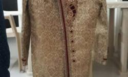 Beautiful hand work Sherwani for 9 yrs child