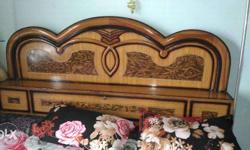 Bed with wood, 1 year-old, good quality, wardrop 6