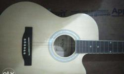 Beige Acoustic Guitar Fixed Price