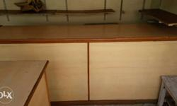 Beige And Brown Wooden Desk