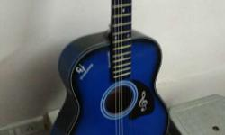 best blue acoustic guitar for sale, amazing looks and