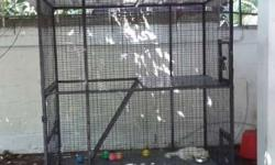 big cage for sale with wheel 2 floors newly build
