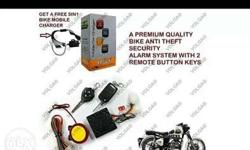 Bike security system with loud alarm... Ignition button