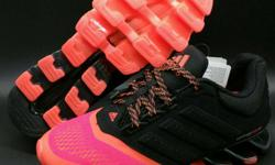 Black-and-red Adidas Spring Blade Shoes