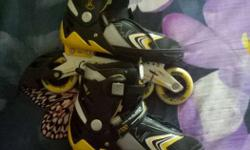 Black-white-yellow Inline Skates