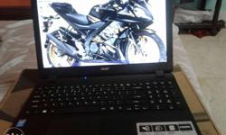 Black Acer Laptop. New not using this lap. With full