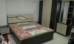 Black And Beige Wooden Bed 5x6 with same combination 3