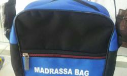 Black And Blue Madrassa Bag