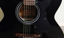 Black And Brown Dreadnought Guitar