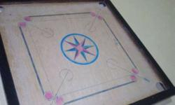 Black And Brown Star Print carrom board