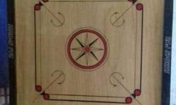 Black And Brown Wooden Carrom Board