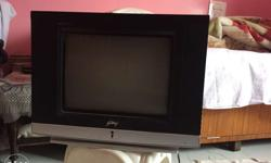 Black And Gray CRT TV price negotiable working good
