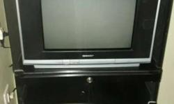 Black And Gray CRT TV
