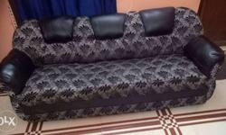 Black And Gray Floral Sofa