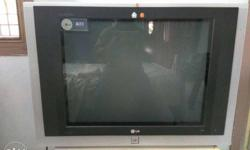 Black And Gray Lg Crt Tv