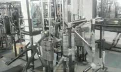 Black And Gray Steel Gym Equipment