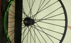 Black And Green Bicycle Rim