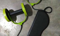 Black And Green Sit Up Pull Rope Exerciser Only one day