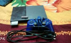 Black And Grey Sony Ps2 Console