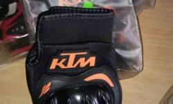 Black And Orange KTM Finger Glove