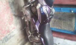 Black And Purple Motorcycle