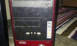 Black And Red Intex Computer Tower