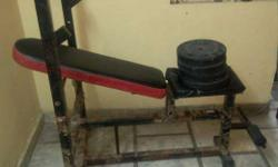 Black And Red Weight Bench