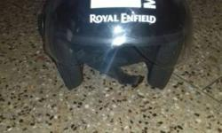 Black And White half-face Helmet,royal enfield original