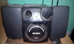 Black And White Intex Stereo Component