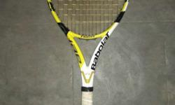 Black And Yellow Babolar Tennis Racket