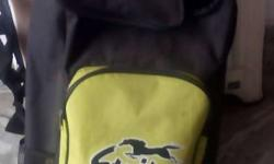 Black And Yellow Striter Insulated Bag