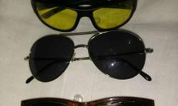 Black Aviator Sunglasses Total 3 nos sell.with box