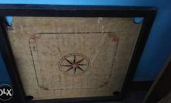 Black Brown Carrom Board