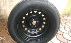 Black Car-wheel With Tire 185/65/15 New tyre