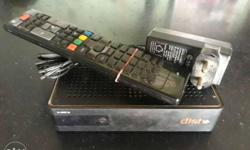 Black Dish+ TV Boxwith Remote Control
