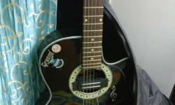 Black Electro Acoustic Guitar Grason brand It is