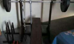 Black Flatbed Bench Press 60kg weights 5 feet rod 4