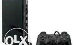 Black Game Console With Game Controller