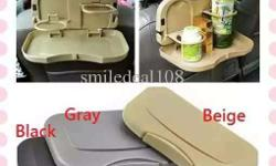 Black Gray And Beige Car Bottle Holder