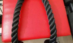 Black Gym Equipment 1 GYM ROPE 800/- 1 PRO GRIP SEATED