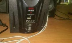 Black Intex 2.1 Channel Speakers interested persons