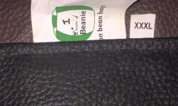 Black Leather Bean Bag almost new in very good