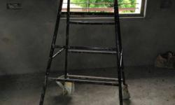 Black Metal A-frame Ladder